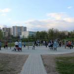 Outdoor fitness zaraz po otwarciu wiosną 2014r.