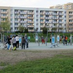 Outdoor fitness zaraz po otwarciu wiosną 2014 r.