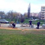Prace przy budowie siłowni zewnętrznej - kwiecień 2014r.