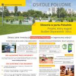 Plakat, którym promowane było głosowanie na projekty z naszego osiedla w Budżecie Obywatelskim 2015.
