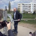 Oficjalne otwarcie fitnessu 23 kwietnia 2014r. - Prezydent Radomia A. Kosztowniak