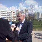 """Oficjalne otwarcie fitnessu 23 kwietnia 2014r. - Prezes SM """"Południe"""" W. Walczuk"""