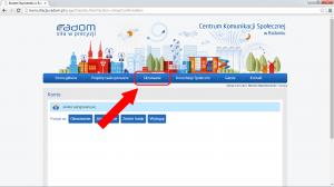 Po zalogowaniu się korzystając z górnego menu kliknij 'Głosowanie'.